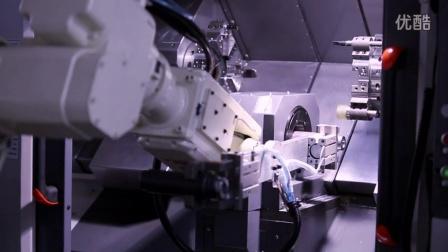 力成专机-数控双头车床DNL081+机器人 联线