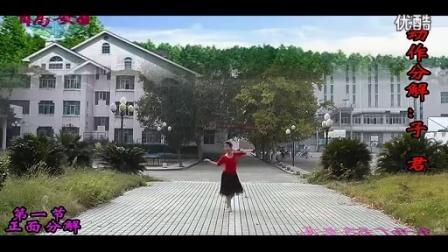 高安子君广场舞 愿做菩萨那朵莲 编舞子君 正反面动作演示 口令分解 演唱路勇