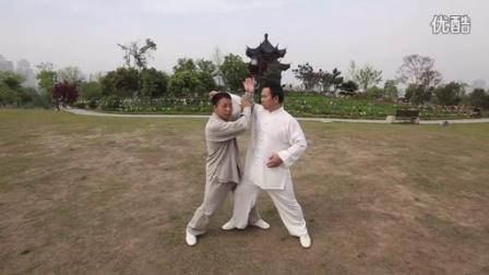 太极拳实战推手 金刚捣碓疯狂发力 陈超太极拳 (片段)