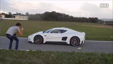 Mazzanti EVANTRA loud Revs on the road at Cars and Coffee Torino 2015
