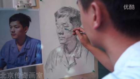 朱传奇画室151002朱传奇素描头像男青年照片写生示范视频