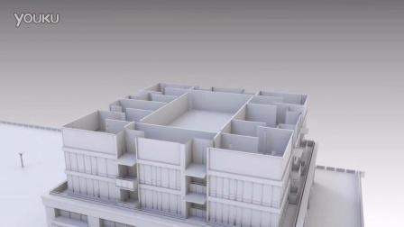 Blender AN插件建筑動畫測試1