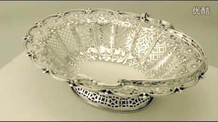 純銀蛋糕籃 - 仿古維多利亞時代 - W9691