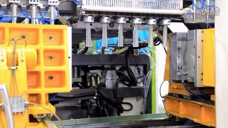 宝捷EB120U100S6高速双工位挤出吹瓶机一出六生产椰奶瓶