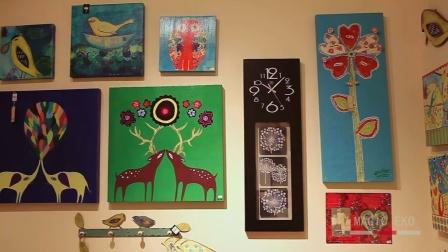美居一刻 创意客厅挂钟时尚静音挂钟 装饰钟表