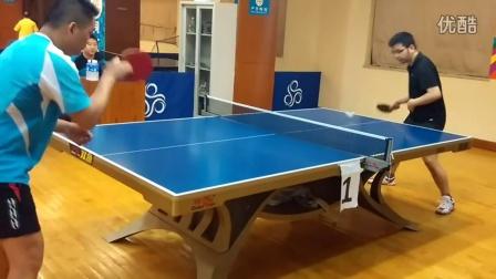《巧遇湿父打乒乓球系列》第七集:直拍横拍正手攻球对练