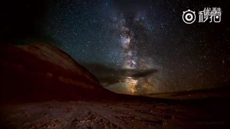 延时摄影视频星空和极光简直美呆