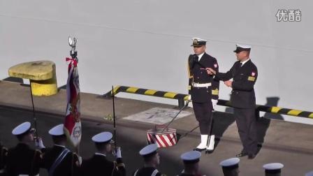实拍波兰海军迎接中国海军编队的入港仪式