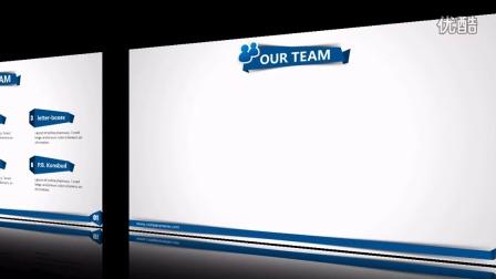 【可编辑excel模板】商务蓝折纸风格图文混排模板143动态 世界之眼