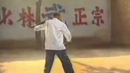 胡正生师傅杨桂吾   少林双拐