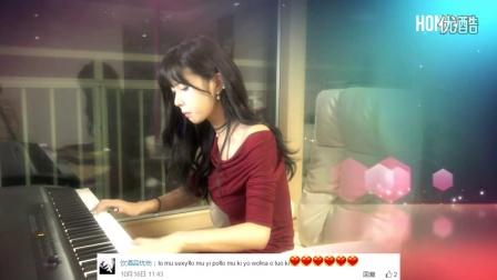 韩国美女主播 许允美 Summer(Hisaishi Joe) 钢琴弹奏