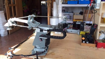 步进四轴码垛机械臂测试视频