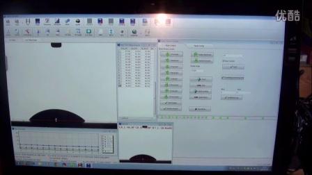 接触角测量仪软件支持触摸屏与手势操作控制测值以及进液等