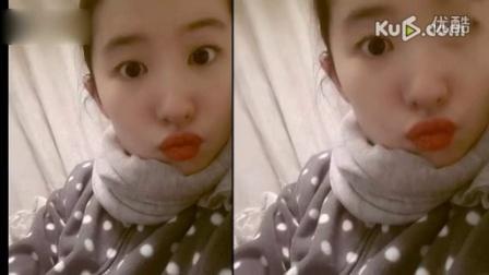 刘亦菲晒新年卖萌自拍照 红唇嘟嘟惹人爱