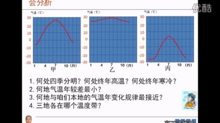 高工讲地理七年级初一上册第三章天气与气候第二节气温的变化与分布