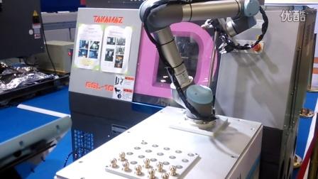 优傲机器人应用案例视频汇总 1.1.8 UR5机床上下料2