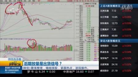股市聊聊吧20151030_后期放量是出货信号?