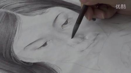中国工笔画教学——工笔人物写生步骤10.3面部和手的分染(朱磦分染)