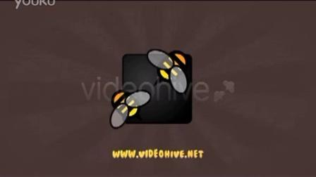 动态儿童胖可爱卡通节目文字片头,儿童AE模板视频素材来自西橘网