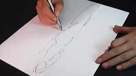 服装设计手绘线稿全过程