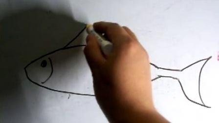 对画教育之(大鲨鱼)儿童绘画简笔示范