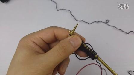 清风的梦想编织棒针零基础教程之  围巾二 搓板针平针起针法和辫子收针法