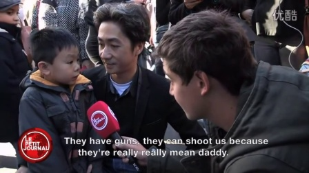 """They might have guns but we have flowers""-  father to kid after Paris terror"