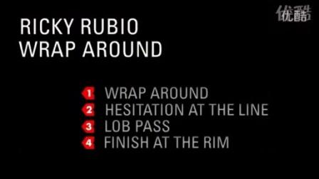 【NBA篮球招牌动作】卢比奥Rubio背后环绕运球过人Wrap Around