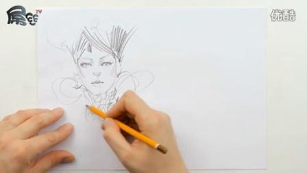 素描入门基础教程如何在时尚插画中画出面孔【屌丝课堂】