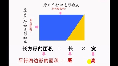 微课《用割补法求平行四边形的面积》(赵凌)