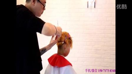 2016向涌第7款女生短发碎发长刘海发型