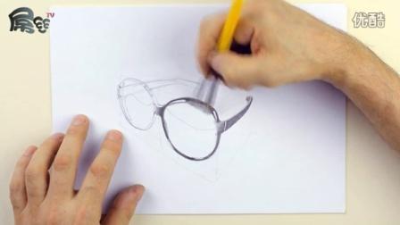 素描进阶课程堪比黑白打印机的铅笔素描作品墨镜【屌丝课堂】