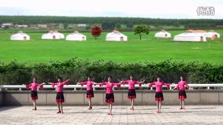 柳静广场舞(敖包传说)正面演示