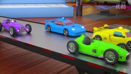 与卡车Max、Bill和Pete一起学习颜色和赛车 - 玩具(幼儿颜色和玩具训练)