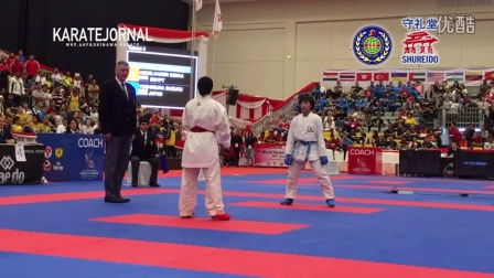 WKF2015 Junior Kumite Female -48 kg World champion YOSHIMURA SUZUKU (JPN)