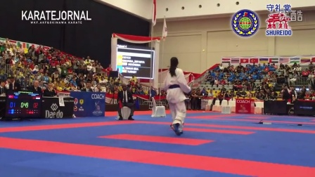 WKF2015 Junior Kumite Female 59  kg World champion CEYCO GEORGIA_ZEFANYA (INA)