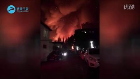 [速佳玉兔][玉兔网]上海杨浦区纪念路附近发生大火现场