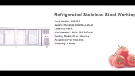 不锈钢厨房柜风冷不锈钢工作台不锈钢沙拉柜不锈钢披萨柜冰激