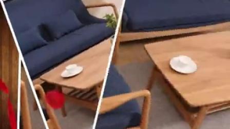 北欧宜家白橡木实木茶几 简约现代小户型茶几 日式茶几咖啡桌