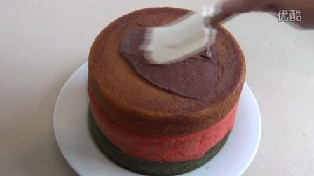 M&M RAINBOW CAKE M&M豆蛋糕制作