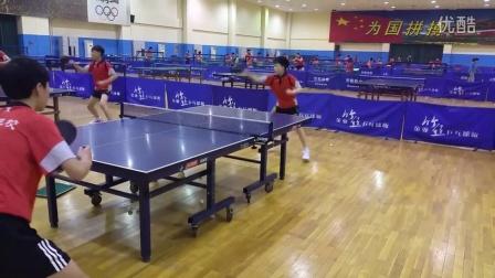 《乒乓球技术训练》实拍专业乒乓学员练习正手两点连续拉