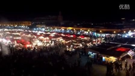 摩洛哥 马拉喀什 不眠广场(IPhone6延时摄影)