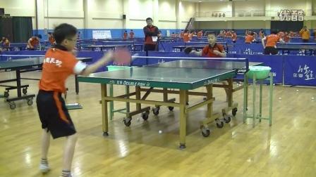《乒乓球技术训练》实拍鲁能乒校学生直拍正手拉球练习视频