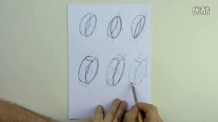 素描入门基础教程如何用铅笔画出3D版钻戒【屌丝课堂】
