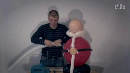 小也魔术气球教程-大型圣诞老人