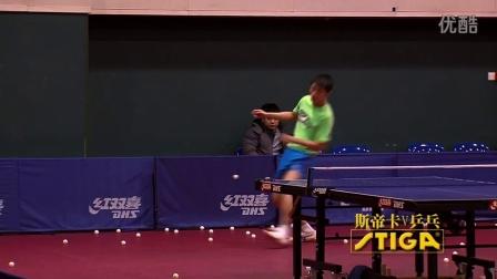 斯帝卡V乒乓 城里人真会玩,乒乓球用脚来踢,啥?张继科在踢?