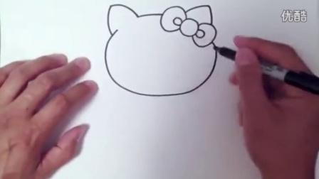 儿童绘画教程视频_教儿童学画画视频--Hello Kitty(分解法)_
