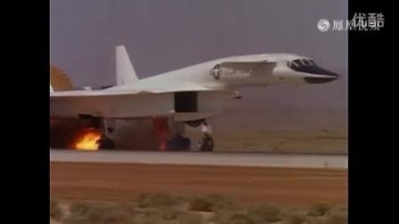女武神着火了!3倍音速战机XB-70惊险迫降-