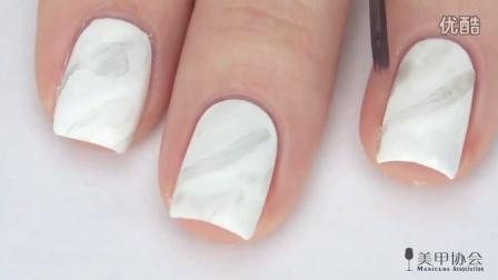 【美甲视频】白色大理石纹甲