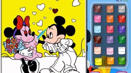 米奇妙妙屋★米奇中文版★迪士尼唐老鸭  我爱米妮上色